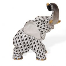 Herend Porcelain Fishnet Figurine of an Elephant 15266